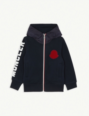 MONCLER Maglia hooded cotton jacket 4-14 years
