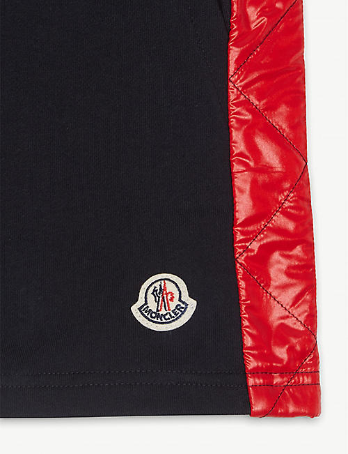 MONCLER Puffer trim cotton sweatshorts 4-14 years