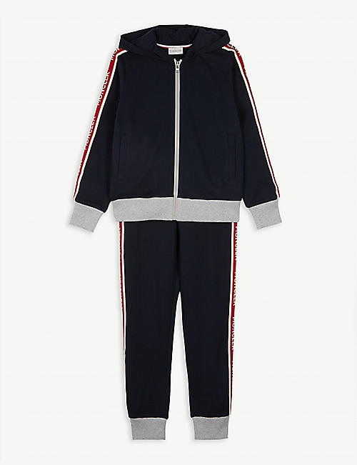 MONCLER Logo tape cotton tracksuit 4-14 years