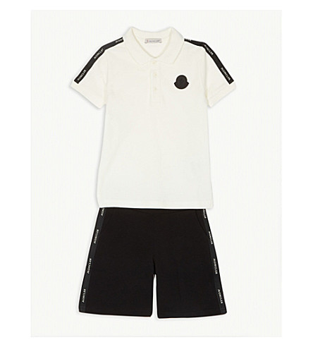 12c2a8c91 MONCLER - Cotton polo and shorts set 4-14 years