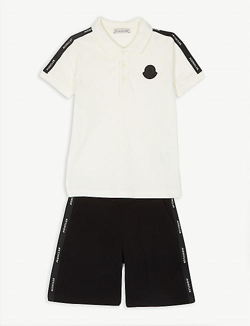 9ab8cf79d MONCLER Cotton polo and shorts set 4-14 years