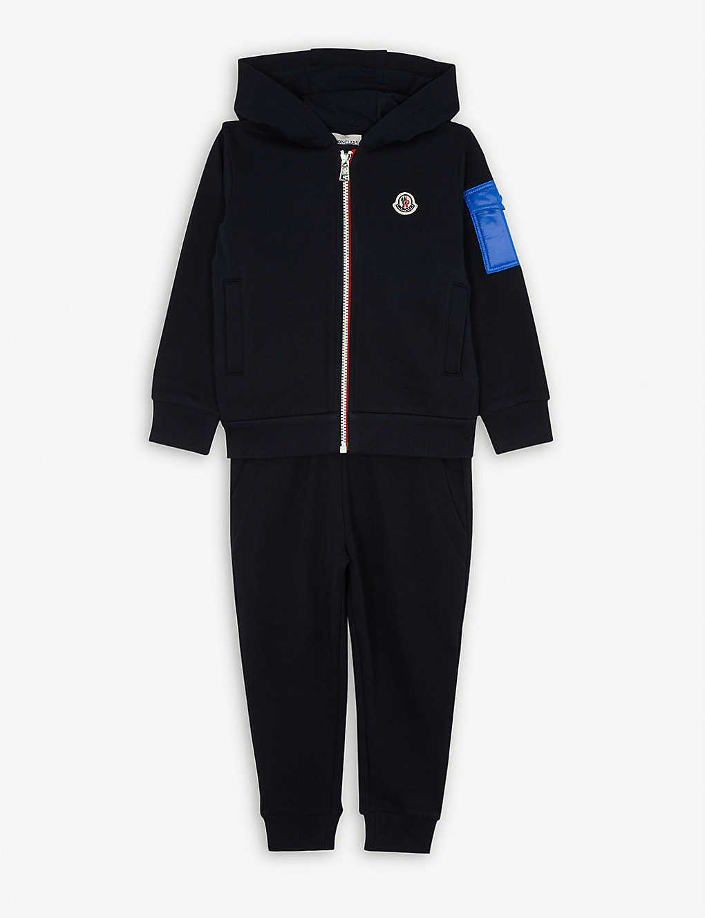 MONCLER: Logo cotton tracksuit 4-14 years