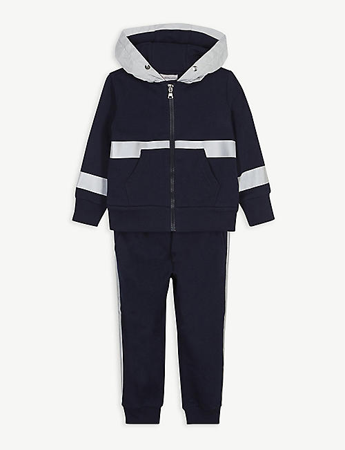 MONCLER Reflective panel cotton-blend tracksuit set 2-16 years