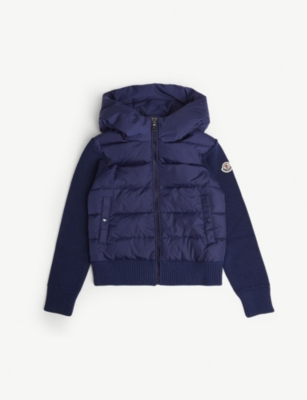 MONCLER Logo-embroidered padded cardigan 4-14 years