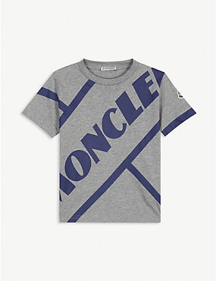 MONCLER: Logo-printed cotton T-shirt 4-14 years
