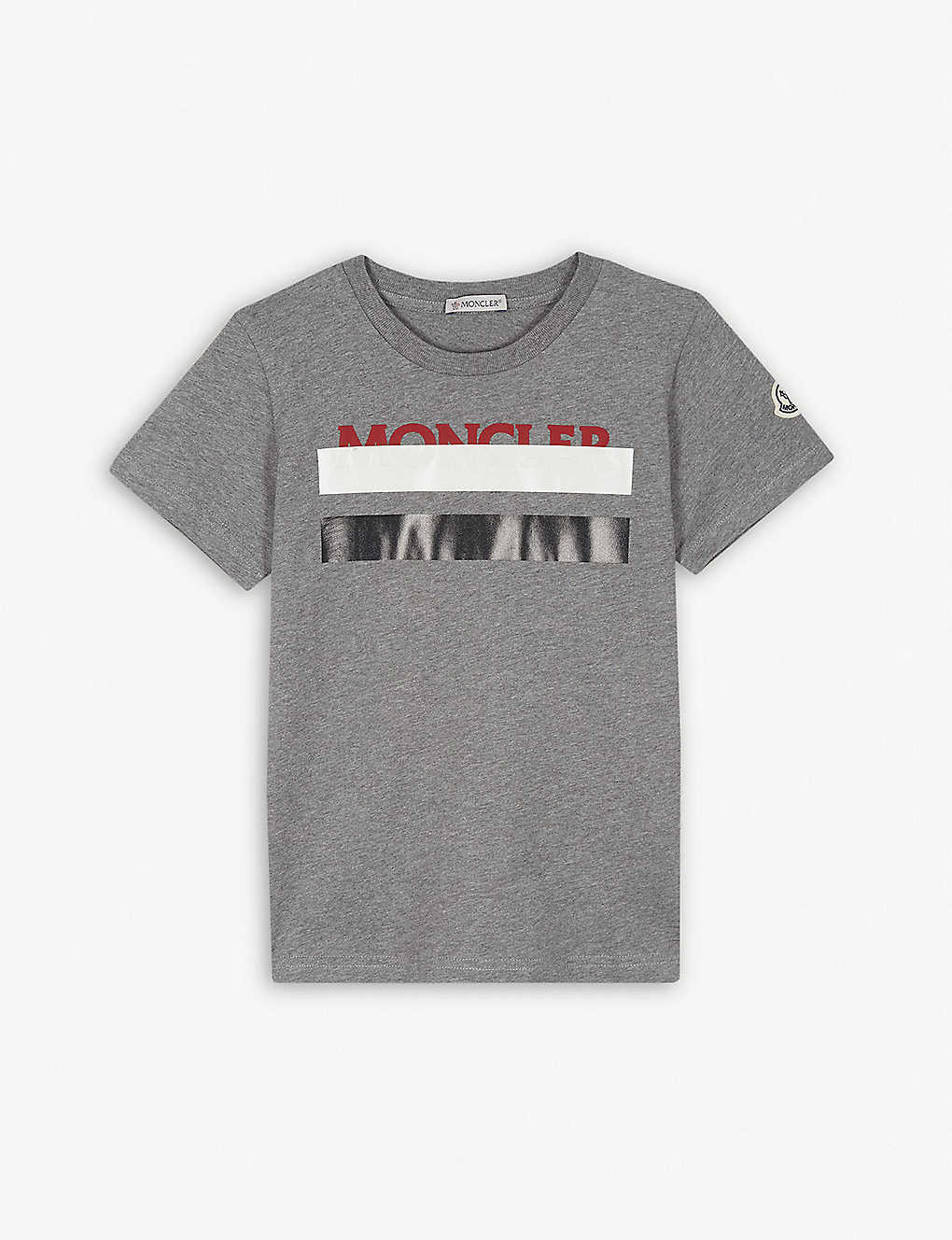 55ab64549 MONCLER - Striped logo T-shirt 4-14 years | Selfridges.com