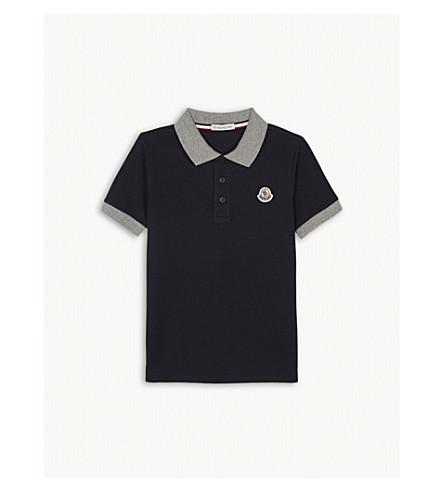 92b9dbcd27b3 MONCLER - Logo pique cotton polo shirt 4-14 years