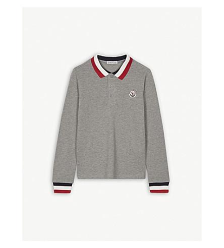 3fd3b0dcf MONCLER - Logo striped cotton polo shirt 4-14 years | Selfridges.com
