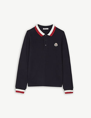 8d88f6f86 MONCLER - Striped trim cotton T-shirt 4-14 years