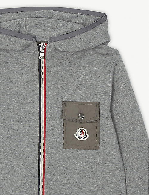 MONCLER Hooded cotton tracksuit 4-14 years
