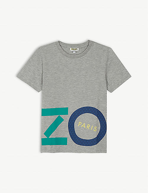 KENZO Logo cotton-blend T-shirt 4-14 years