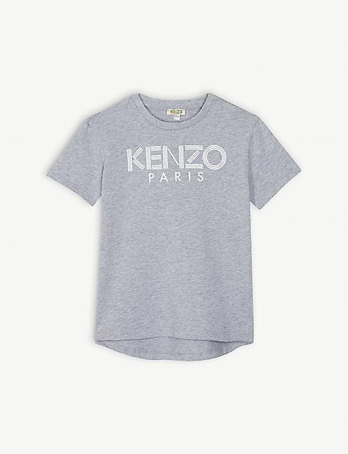 88bb5751a461c KENZO Logo cotton T-shirt 4-14 years
