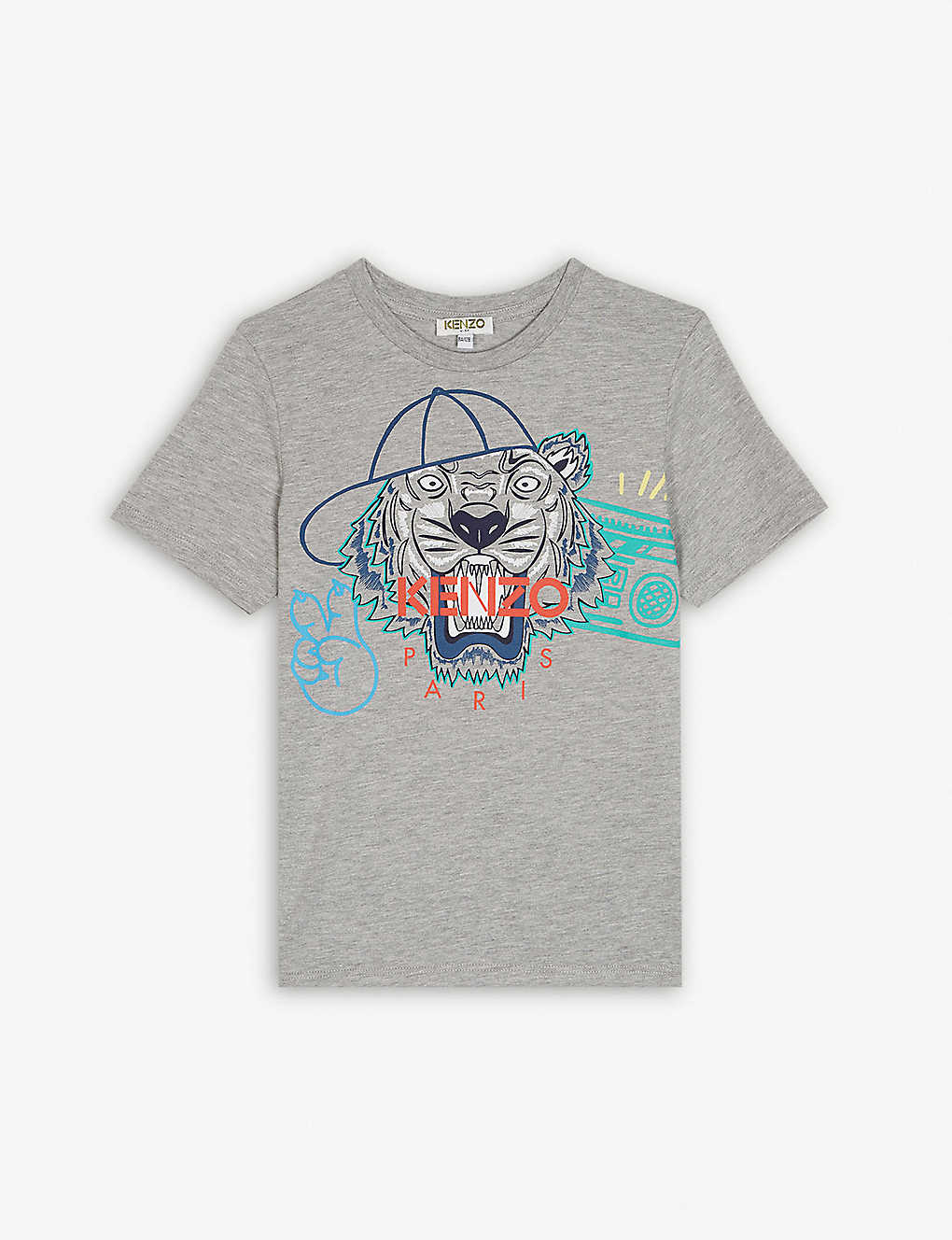 d8384f370f7 KENZO - Baseball cap tiger head T-shirt 4-14 years | Selfridges.com
