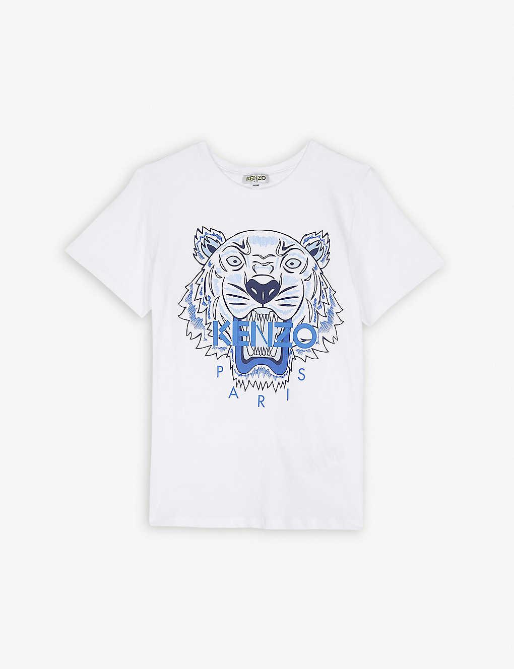 1da31840f KENZO - Tiger logo cotton T-shirt 4-14 years | Selfridges.com