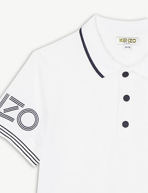 KENZO Logo cotton polo shirt 4-14 years