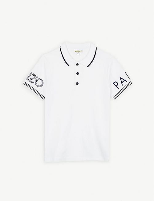 f275601f7184 KENZO Logo cotton polo shirt 4-14 years