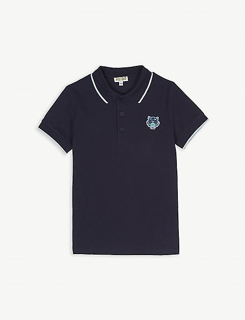 KENZO Cotton short sleeve polo 3-12 years 3df2daeaee