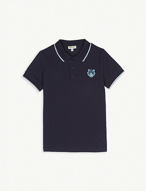 KENZO Cotton short sleeve polo 3-12 years