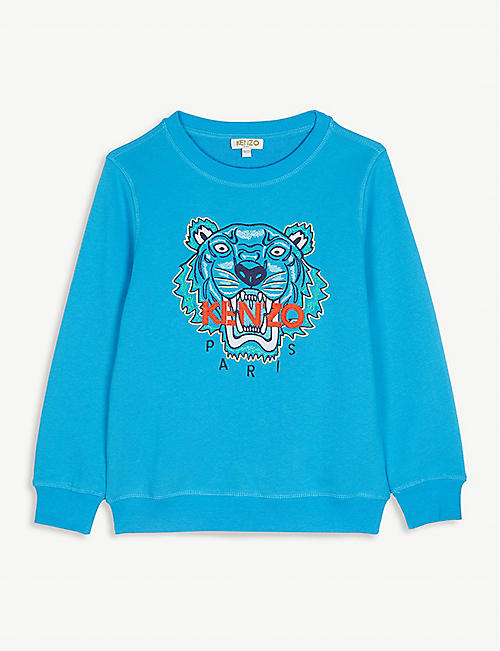 50aebfdc2519 KENZO Logo cotton jumper 4-14 years