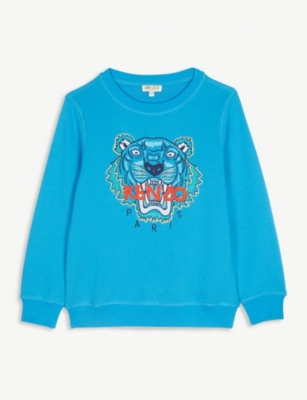 KENZO Logo cotton jumper 4-14 years