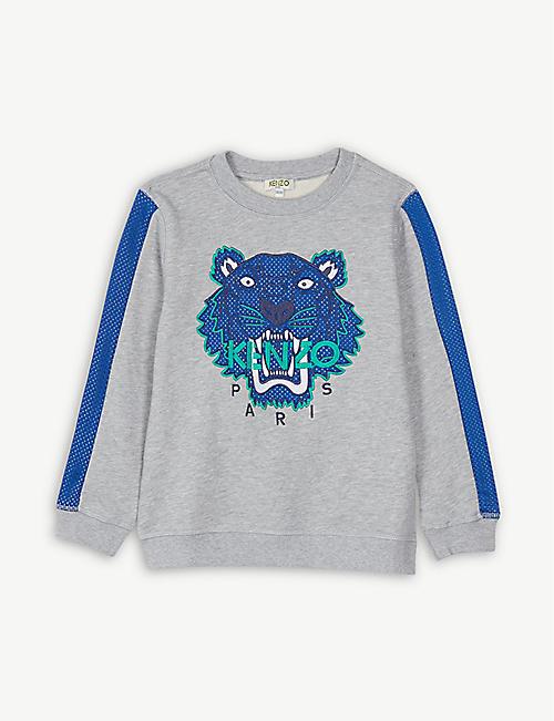 20407d118fb KENZO Tiger motif sweatshirt 4-14 years