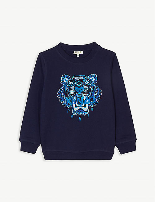 KENZO Icon tiger motif cotton sweatshirt (4-14 years)