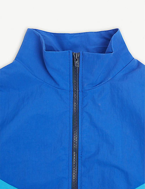 KENZO Logo colour block zip jacket 4-14 years