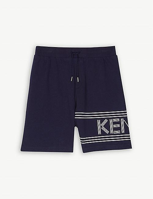 cd254de49104 KENZO Logo cotton sweat shorts 4-14 years