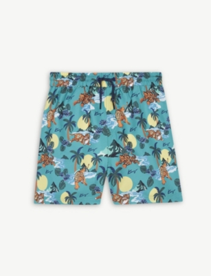 KENZO Hawai print swim shorts 4-14 years