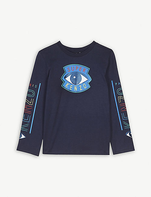 KENZO 'Super Kenzo' logo cotton top 4-14 years