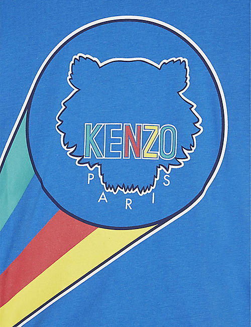 KENZO Tiger logo-print cotton T-shirt 4-14 years