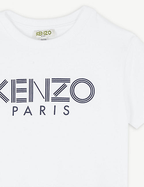 KENZO Logo-print cotton T-shirt 4-14 years