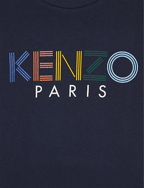 KENZO Logo cotton T-shirt 4-14 years