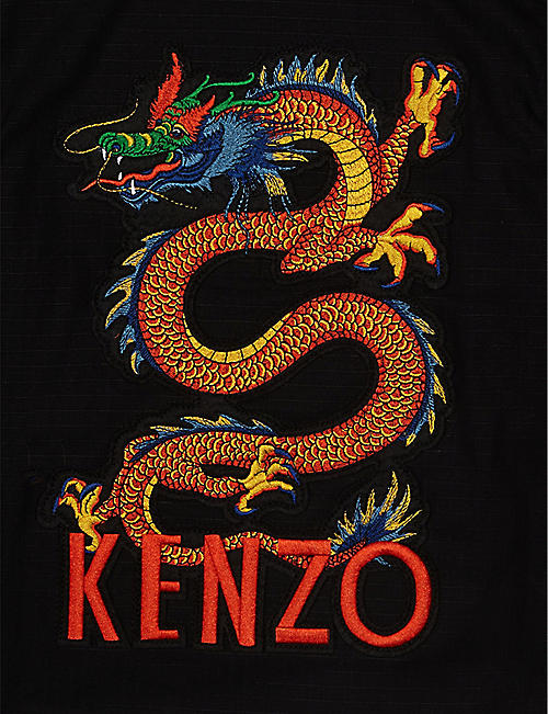 KENZO Dragon logo cotton shirt 4-14 years
