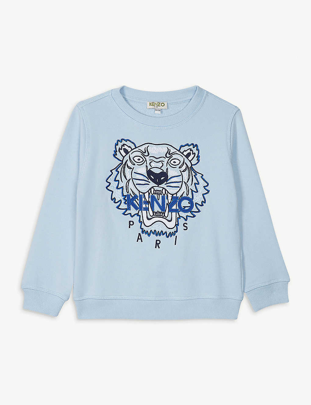 KENZO: Beaded tiger logo cotton sweatshirt 4-14 years