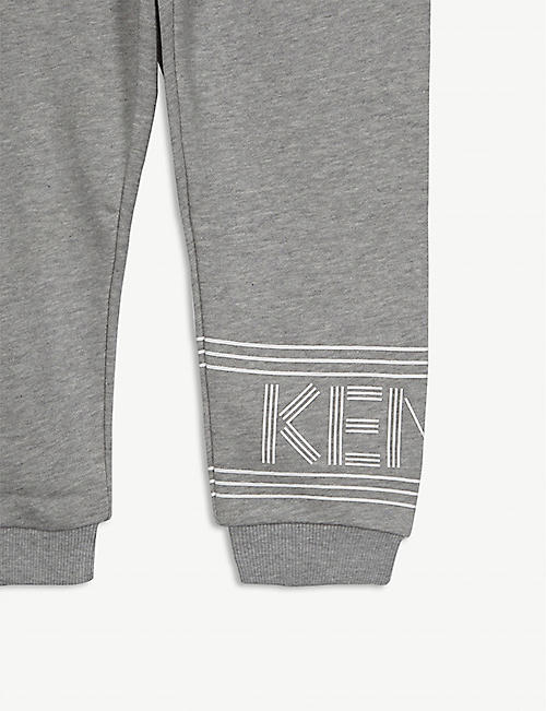 KENZO Logo cotton jogging bottoms 4-14 years