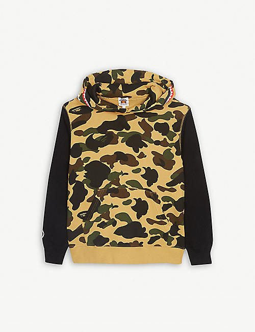 A BATHING APE Camouflage cotton hoody 4-8 years fe9fb46119