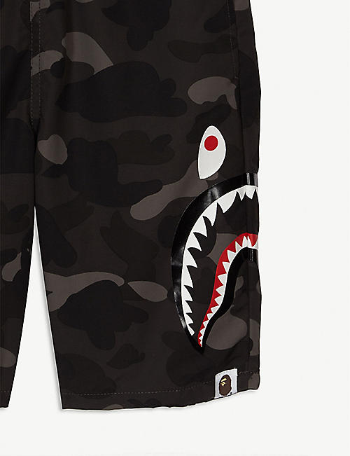 5d9af1776e A BATHING APE Shark camouflage swim shorts 4-8 years · Quick Shop