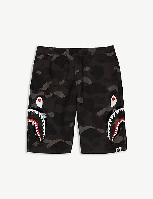 2264da1f42 A BATHING APE Shark camouflage swim shorts 4-8 years