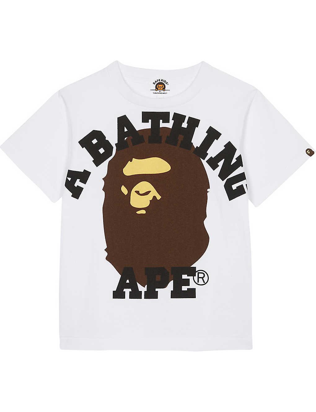 8d2c994ec A BATHING APE - Large Ape cotton T-shirt 4-8 years | Selfridges.com