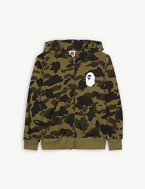 e9a0ab3a1144ce A BATHING APE Ape logo camouflage cotton hoody 4-8 years