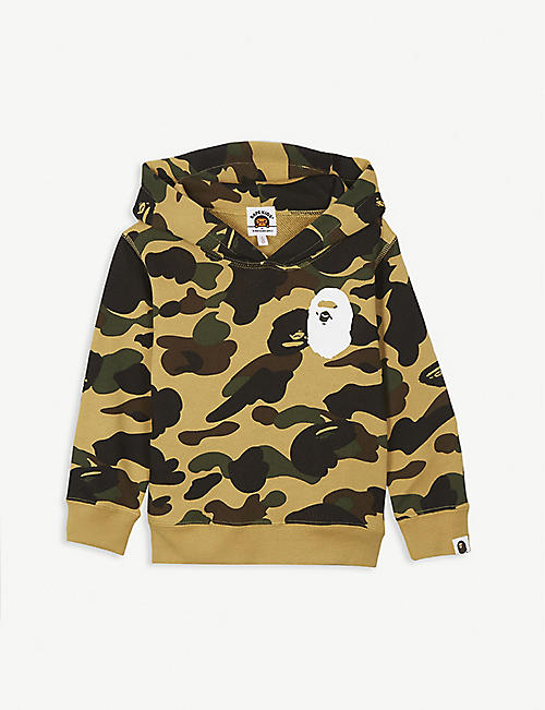 A BATHING APE 1st Camo cotton-jersey hoody 4-10 years