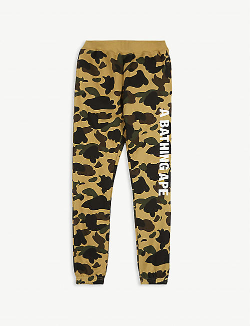 A BATHING APE 1st Camo cotton jogging bottoms 4-10 years