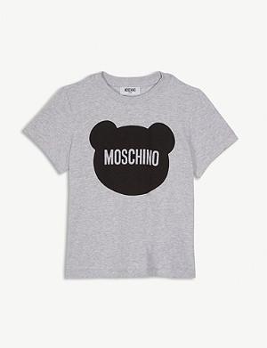 d9dfab1f597 MOSCHINO - Stitch print logo cotton T-shirt 4-14 years | Selfridges.com