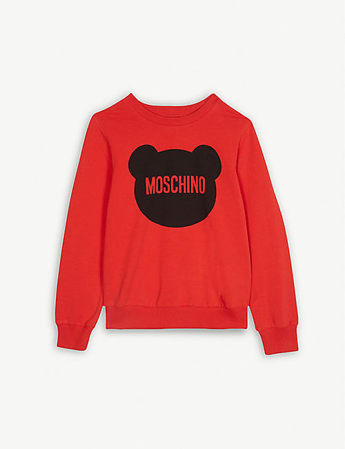 de1b6d1ce100f MOSCHINO Teddy logo cotton jumper 4-14 years