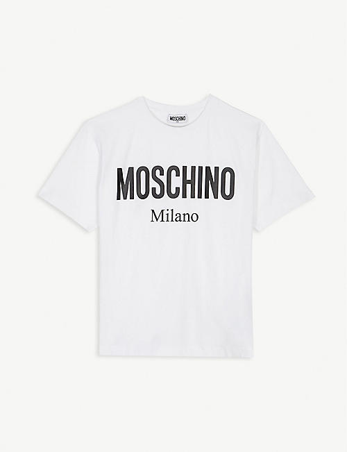 0bdb6abfa405 MOSCHINO Logo cotton maxi T-shirt 4-14 years
