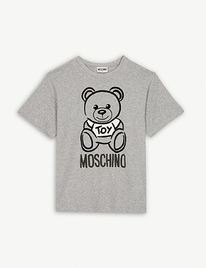 MOSCHINO Teddy logo cotton T-shirt 4-14 years