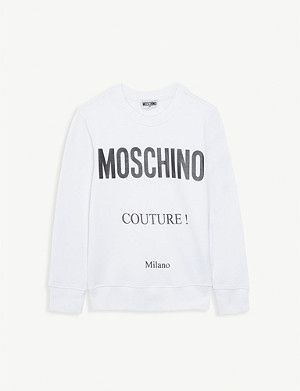 MOSCHINO Couture! cotton-blend sweatshirt 4-14 years