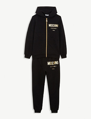 MOSCHINO Couture! foil logo cotton-blend tracksuit 4-14 years