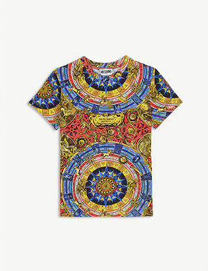 MOSCHINO Zodiac print cotton T-shirt 4-14 years